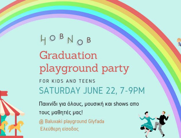 Hobnob playground party for kids & teens